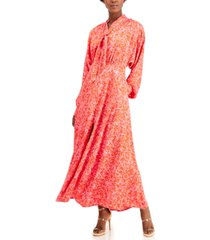 inc petite tie-neck maxi dress, created for macy's
