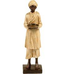 escultura decorativa de resina indiano govind