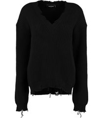 dsquared2 cotton v-neck sweater