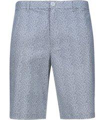 bermuda hombre miniprint gambas color gris, talla 38