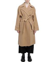 lanvin beige belted coat