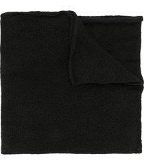julius oversized draped scarf - black
