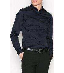 premium by jack & jones jjprparma shirt l/s noos skjortor mörk blå