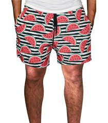 shorts j10 praia estampada microfibra 1034-vermelho