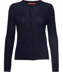 cashmere cardigan stickad tröja cardigan blå coster copenhagen