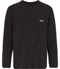 gramicci storm logo fleece sweatshirt - black