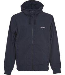 carhartt blue jacket with hood