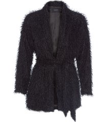 casaco feminino jordana - preto