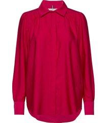 sylvia blouse ls blouse lange mouwen rood tommy hilfiger