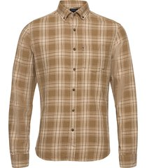 clive yarn dyed checked shirt overhemd casual bruin lexington clothing