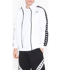 kappa track jacket anniston banda tröjor vit/svart