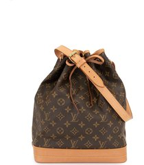 louis vuitton 1996 pre-owned noé drawstring shoulder bag - brown
