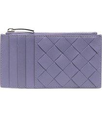 bottega veneta zipped card case - purple
