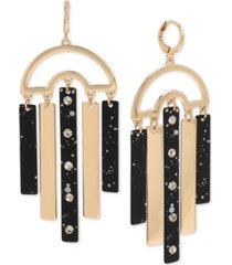 bcbgeneration gold-tone & pave splatter stick chandelier earrings