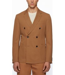 boss men's virgin wool slim-fit jacket