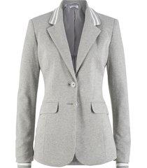 blazer in jersey di cotone con dettagli a righe (grigio) - bpc bonprix collection