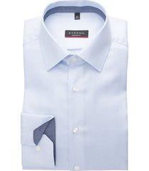 eterna modern fit shirt lichtblauw structuur