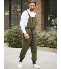 mamelucos ocasionales de la liga de la moda de los hombres overoles mono