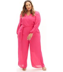 lane bryant women's beauticurve belted ankle jumpsuit 20 magenta