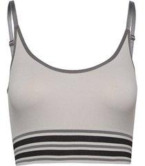 lucia long bra top lingerie bras & tops bra without wire grå missya