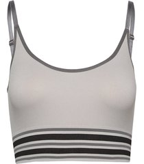 lucia long bra top lingerie bras & tops bra without wire grå missya