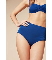 calzedonia indonesia high-waisted shaping bikini bottoms woman blue size 5