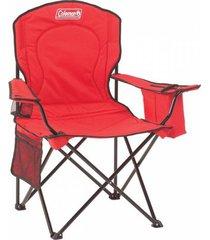 cadeira coleman dobrável com cooler térmico e porta copo