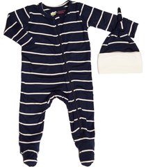 infant boy's baby grey by everly grey jersey footie & hat set