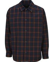 a.p.c. plaid shirt jacket