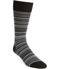 men's cole haan multistripe crew socks, size one size - black