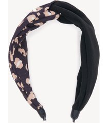 women's colorblock leopard print headband black combo one size from sole society