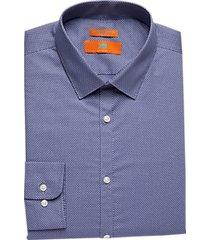 egara orange extreme slim fit dress shirt blue dots
