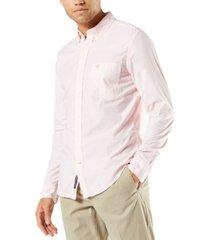 dockers men's alpha icons slim-fit stretch printed shirt