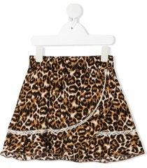caffe' d'orzo kira leopard-print skirt - neutrals