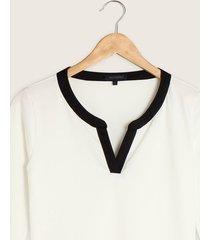 camiseta manga 3/4 con pechera unicolor-l