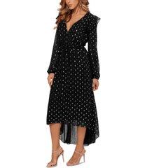betsy & adam clip-dot midi dress
