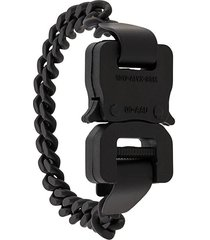 chainlink buckle bracelet black