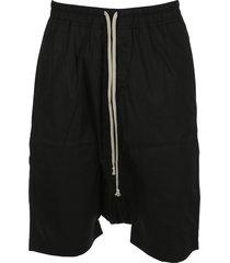 dark shadow drop-crotch track shorts