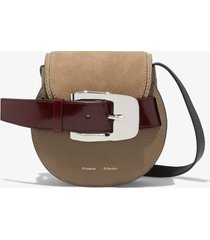 proenza schouler buckle mini crossbody bag light taupe/brown one size