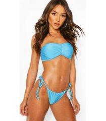 basic bandeau bikini, blue