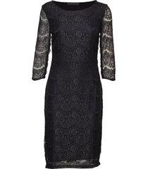anastacia dress knälång klänning svart minus