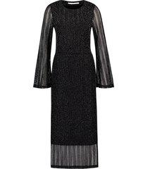 faline tricot jurk lurex lang