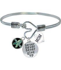 custom scoliosis awareness never give up choose mom or dad charm only bracelet j