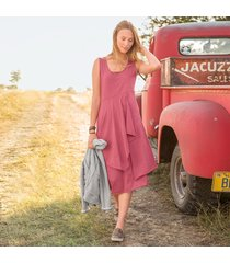 farrow draped dress