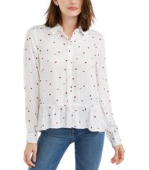 maison jules printed peplum top, created for macy's