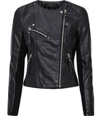 bikerjacka vmria fav short faux leather jacket