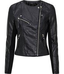 bikerjacka vmria fav short faux leather jacket
