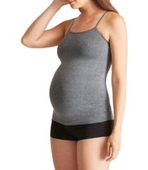 women's ingrid & isabel 'everyday' seamless maternity camisole, size 3 (fits like 16-22us / 18-20w) - grey