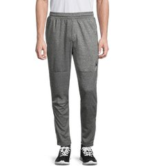 spyder men's heathered zip-cuff track pants - charcoal - size xl