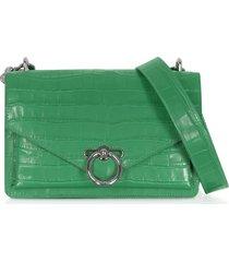 rebecca minkoff designer handbags, croco embossed leather jean small xbody
